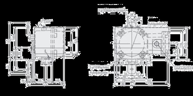 Matsushima Pull Cord Switch ELAM 21W d2G4 Dimension