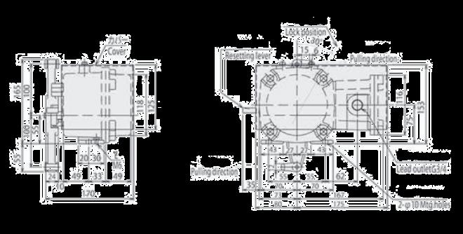Matsushima Pull Cord Switch ELAM-31 d2G4 Dimension