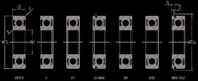Dimensi Bearing SMT Seri SS AISI440C