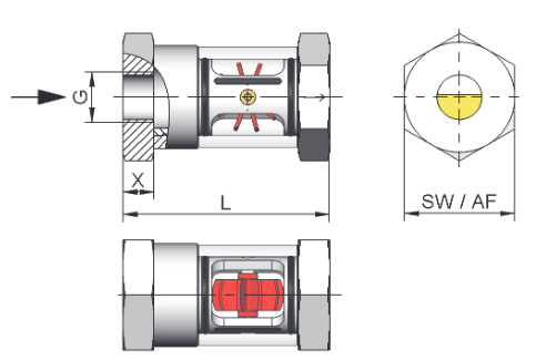 Honsberg WR1 Flow Indicator