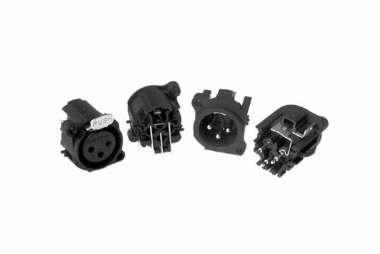 XLR Connector AC Series PCB Chassis Mount (A Type)